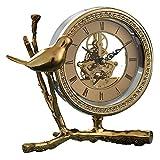 JCOCO Reloj De Cobre Puro Creativo De La Manera American Modern Minimalist Bird Living Reloj De Mesa Decoración del Hogar