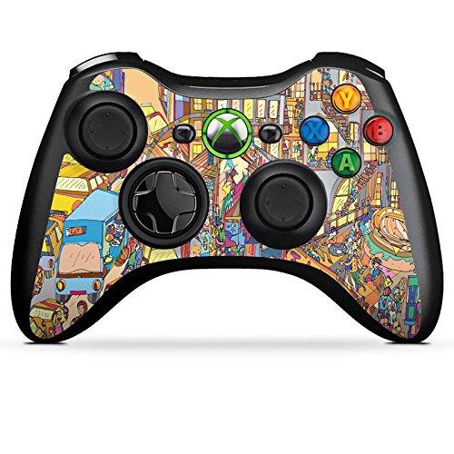 DeinDesign Microsoft Xbox 360 Controller Folie Skin Sticker aus Vinyl-Folie Aufkleber New York Bunt Colourful (360-controller Grafik Xbox)