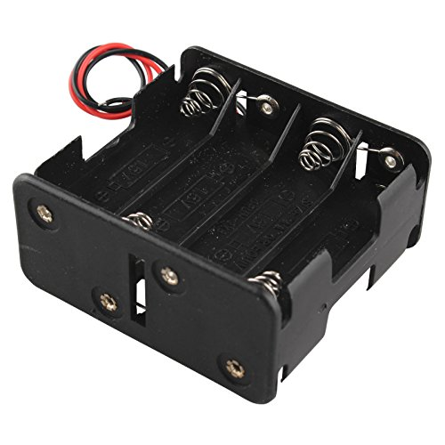 Haljia 12 V 8 x AA battery slot clip Holder pila caso box double Deck/posteriore a 15,2 cm fili conduttori