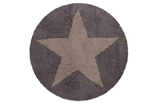 Lorena Canals C de Sr de LDG-7Reversible redondas estrella Alfombra, oscuro de color beige