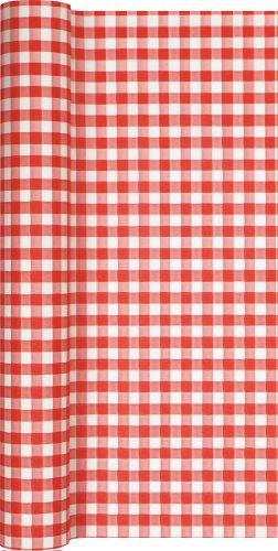 ariert In Rot - Weiß/Karo/Airlaid/Tischband für Party/Geburtstag 40cm x 4,90m ()