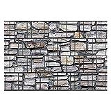 Zaunsichtschutz, Windschutz (30 versch. Motive) für Doppelstabmattenzaun *Marmormauer* beidseitig, 19cm, 26m Rolle