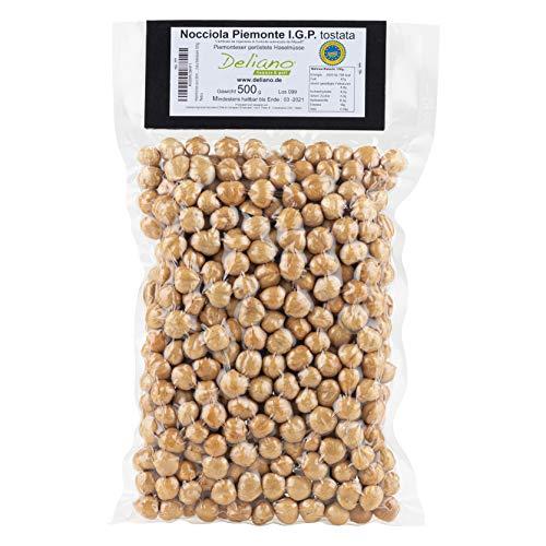 Haselnüsse aus dem Piemont. Nüsse ganz geschält. Geröstete Haselnuss. Haselnusskerne geschält und naturbelassen 500g