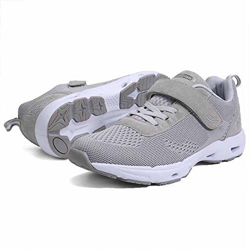 Eagsouni Herren Damen Turnschuhe Laufschuhe Mesh Sneaker Sport Gym Jogging Fitness Schuhe Grau