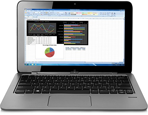 HP Elite X2 1011 (L5G45EA) 29,46 cm (11,6 Zoll) Convertible Business Laptop (Intel Core M-5Y10c, 4 GB RAM, 128 GB SSD, HD Bildschirm, Touchscreen, Windows 8.1 Pro 64) silber (Hp Touch-screen Laptop Mini)
