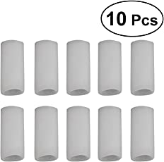 Healifty Silicone Finger Sleeve Silicone Thumb Protector for Arthritis Basketball Mallet Finger Trigger Finger Corn Blister Abrasion 10PCS