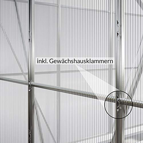 Deuba Aluminium Gewächshaus - 6