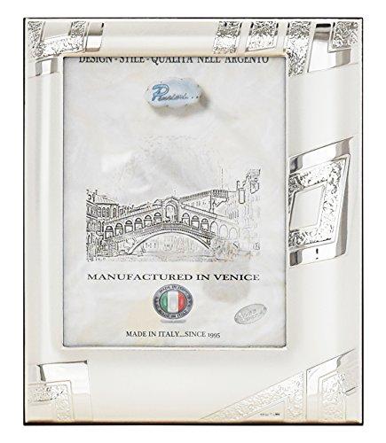 QUADRI Portafoto Cornice Ritratto Argento Artigianale Italy fatto a Mano Foto ca.13x18cm