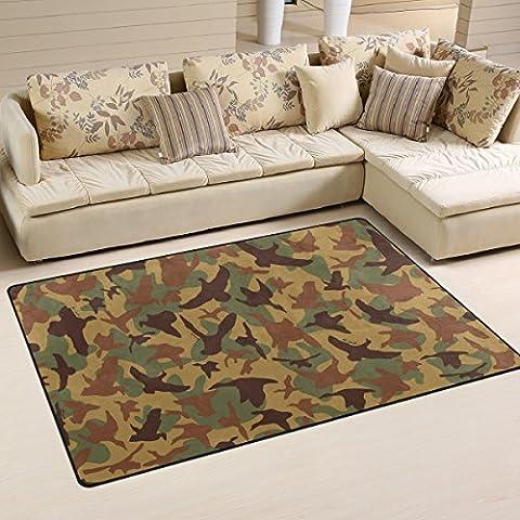 COOSUN Birds Wings Camo Pattern Area Rug Carpet Non-Slip Floor Mat Doormats for Living Room Bedroom 60 x 39 inches