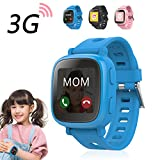 Oaxis Enfants Smart Watch Téléphone pour les enfants, la première 3G SIM Card Smartwatch enfant avec GPS Tracker Fitness Anti-perdus SOS Finder Geo Fencing écran tactile (Blue)