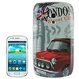 Cover Case Rigida Protettiva Per Samsung Galaxy S Iii S3 Mini London City Car