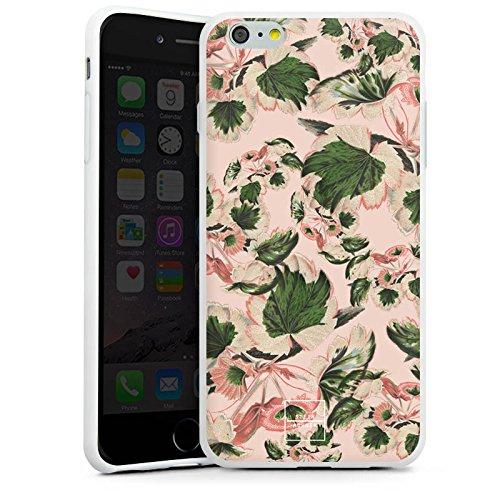 Apple iPhone X Silikon Hülle Case Schutzhülle Steinrohner Blumen Blätter Silikon Case weiß