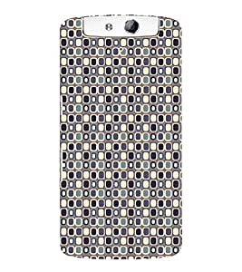 Print Masti Designer Back Case Cover for Oppo N1 (Alternative Antique Square Colourful)