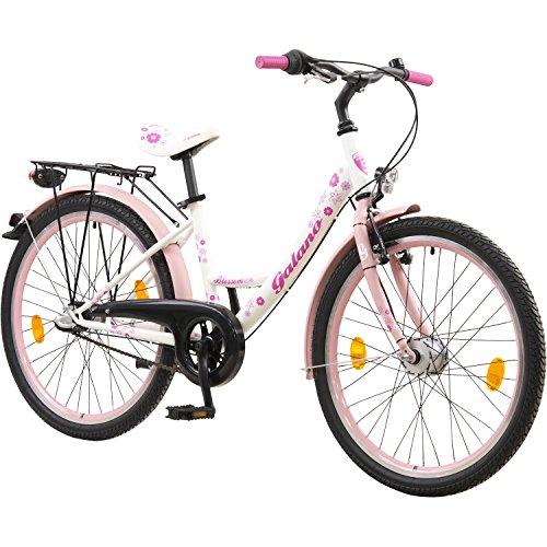 24 Zoll Kinderfahrrad Jugendrad Mädchenfahrrad StVZO Beleuchtung Pink