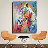 WULICHAO Ölgemälde Bunte pferd bild leinwand druck ölgemälde bild für schlafzimmer wohnzimmer wohnkultur, 30 cm * 40 cm