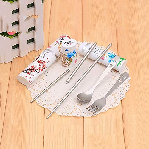 Retro Dinnerware Set - Retro 3 In 1 Stainless K Sets Set Random Color Ciq - Dinnerware Food Colorful Retro Salad Ceramic Dinnerware Sets Blue Dinner Plate Spoon Bgrouac Folding Knife Retro Cutle Bone White Plate