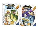 tiptoi Ravensburger Bücher Set - Expedition Wissen Dinosaurier und Expedition Wissen Weltraum