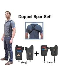 Simbatec Body Safe Long + Court Set de pochettes tour de cou à porter sous les vêtements