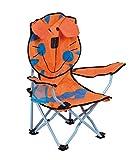 No label Tigre Sedia pieghevole per bambini, Arancione/Blu