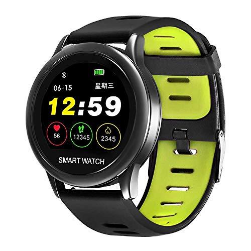 Mygsn Watch Herren und Frauen Fitness Tracker Pulsmesser Smart Armband, Schwimmen wasserdichte Intelligente Uhr Schrittzähler Sportuhr Watch (Farbe : Grün)
