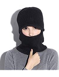 Gorro invierno unisex para hombre mujer tejido felpa gruesa gorro esquí  forro polar para gorro de 45302a2ddf1