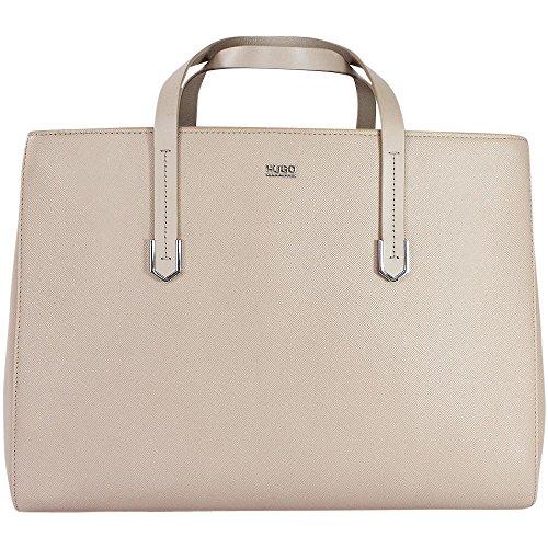 Hugo - Norah 10184030 01 Borsa Shopper Donna Beige Chiaro