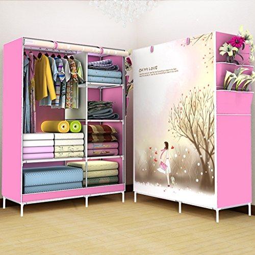 Armadio qff non tessuti guardaroba semplice pieghevole panno rinforzo casa modello big abbigliamento cabinet (colore : # 5)