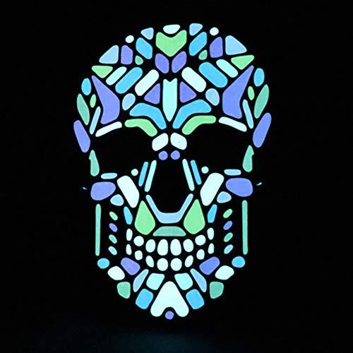 Forart Halloween Maske Cosplay LED Glow beängstigend EL Wire leuchten Grinsen Masken für Festivalpartys (Adult Masken Beängstigend)