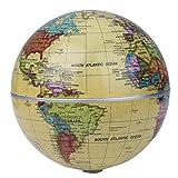 MagiDeal Solarbetriebene Selbst Drehende Globus automatische Drehung Geographie Geburtstag Geschenke Wohnkultur Büro Dekoration (14 cm Durchmesser)