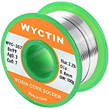 WYCTIN 357 - Carrete de soldar (0,8 mm, sin plomo, Sn