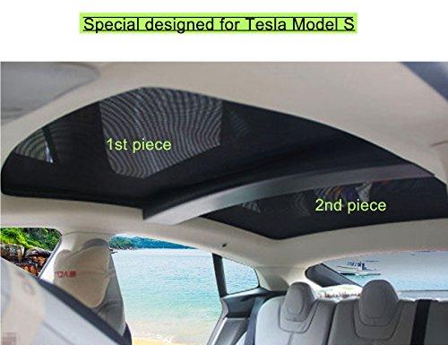 Topfit Schiebedach Sonnenschirm für Modell S, 2012-2017, Enthält 2 Stück