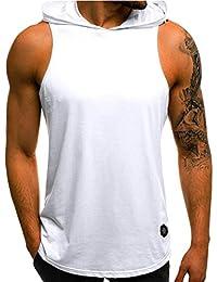 64541009762ac ... 4 estrellas y más. QinMM Camiseta con Capucha de Tirantes Deportes para  Hombre