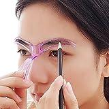 Make Up Frau Schablonen Augenbrauen - perfekte Form für Frauen, alles Gute zum Geburtstag begünstigt, Bijoux zu kleinen Preisen - von Eyebrows Gone Wild (Pink)