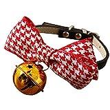 MOSHANGHUA Haustierzubehör Hundehalsband Halsband Fliege Glocke Zubehör,Red