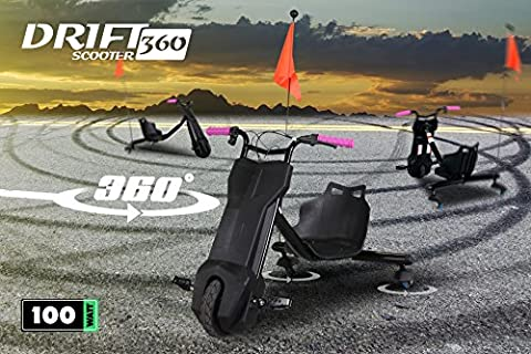 Electric Children's Drift Drift Scooter 360Scooter 3Wheel Scooter black