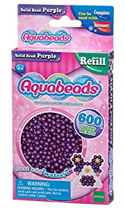 Aquabeads- Solid Beads, Color Morado (Epoch para Imaginar 32578)