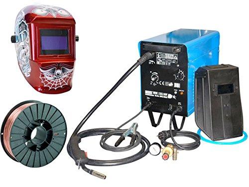Güde Schutzgas Schweißgerät MIG 155/6W inkl. 5 kg Schweißdraht und Schweißhelm