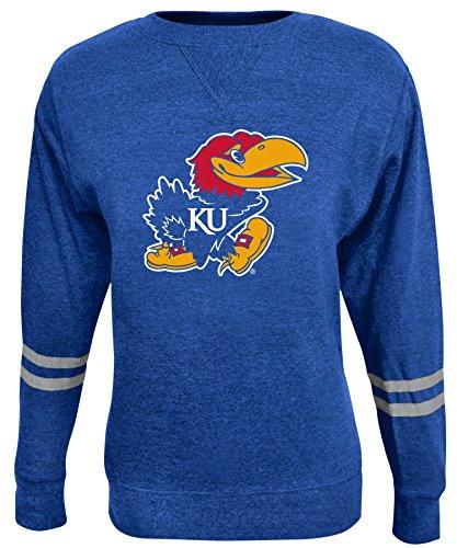 NCAA Damen Crew Sweatshirt, Damen, ROSAURA, blau, X-Large (Fleece Scoop Neck Sweatshirt)