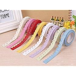 6 rollos de cinta decorativa de encaje