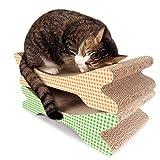 Sakuldes Cat Scratch Board Wellig Wellpappe Katzenkratzbrett Cat Claw Toy (Color : Green, Size : 45X22X12CM)