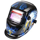 FIXKIT Solar Powered Welding Helmet Automatic Darkening and Eye-protecting Mask Shield Eagle Design