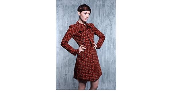 854880daa1 Vintage Biba Orange Dress (Size 10)  Amazon.co.uk  Clothing