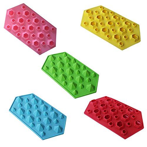 HCFKJ Diamantform Eiswürfelschale 27 Kavitäten Kristall Silikon Eisform Candy (Pops Baby Flasche Candy)