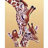 Autumn-wind DIY 5D Diamond Painting Kits, Giraffe Family Embroidery Crystal Rhinestone Crafts Handwork Home Wall Decor Art (A)