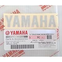 BRAND NEU 100 ORIGINAL YAMAHA Aufkleber Sticker Emblem Logo 80mm X 18mm Metallisch Silber Selbstklebend