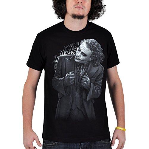 Batman - Camiseta - Joker en negro - negro - unisex - XXXL