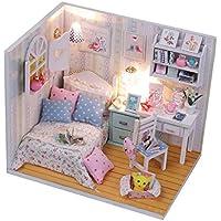 01fa2b5743b Homyl 1 24 Dollhouse Miniature Doll House Kits Camera da Letto Life Scene  Regalo di