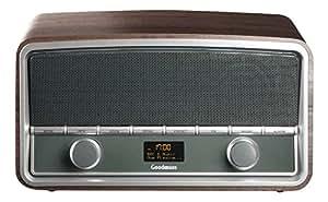 Goodmans GSR1889DABBTW Radio portable Argent, Marron