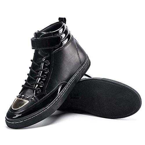 ZXCV Scarpe all'aperto Scarpe da uomo eleganti in pelle con lacci Nero