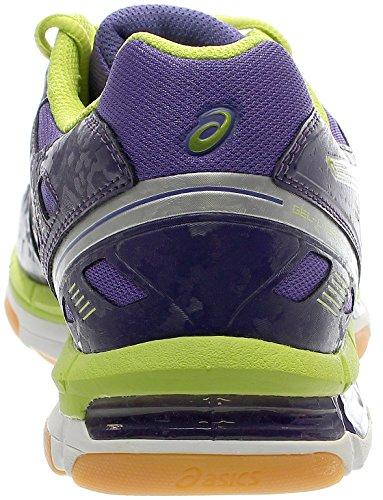 Asics Gel-Cyber Shot Mt Synthétique Chaussure de Marche Purple-Silver-Lime